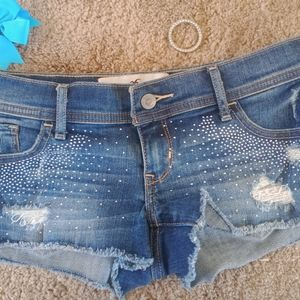 Hollister jean shorts for women size 1 and 2